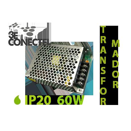 TRANSFORMADOR TIRAS LED 60W INTERIOR