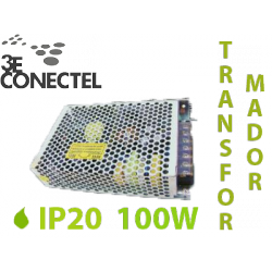 TRANSFORMADOR 100W TIRAS LED INTERIOR IP20