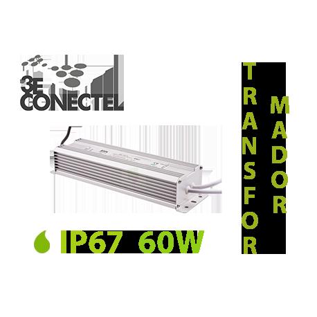 TRANSFORMADOR TIRAS LED 60W EXTERIOR