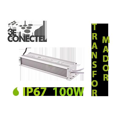 TRANSFORMADOR TIRAS LED 100W EXTERIOR