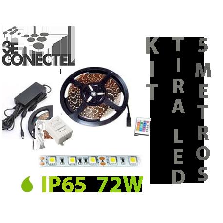 KIT DE TIRA LED RGB 5 METROS 72W EXTERIOR