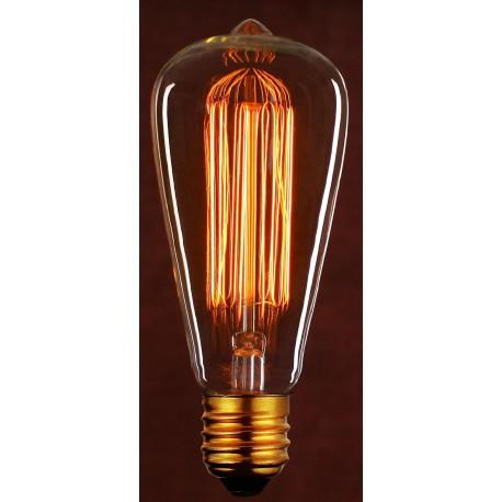 LAMPARA VINTAGE PERA DECORATIVA 40W E27