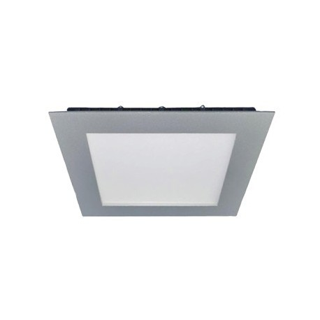 DOWNLIGHT CUADRADO LED 12W MARCO PLATA