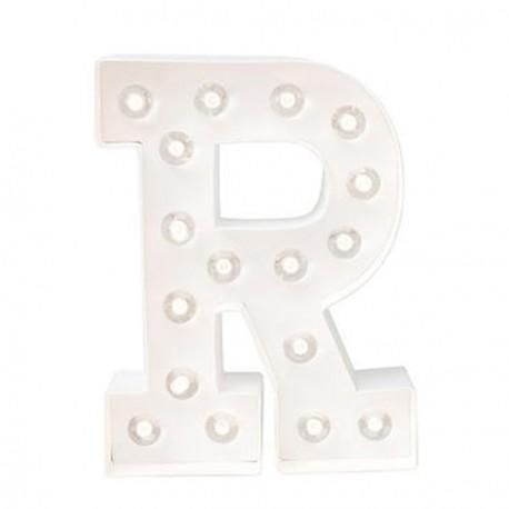 LETRA R CON LUCES LED