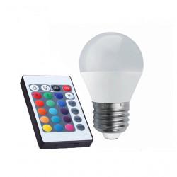 BOMBILLA RGB LED MULTICOLOR E27 4W