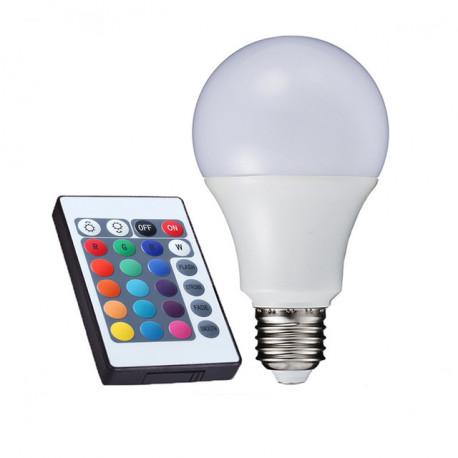BOMBILLA RGB + WW LED MULTICOLOR E27 7.5W