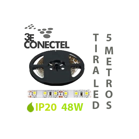 TIRA LED 5 METROS 48W IP20