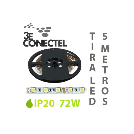 TIRA LED 5 METROS 72W IP20